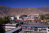 China Tibet Lhasa Overview Of New City