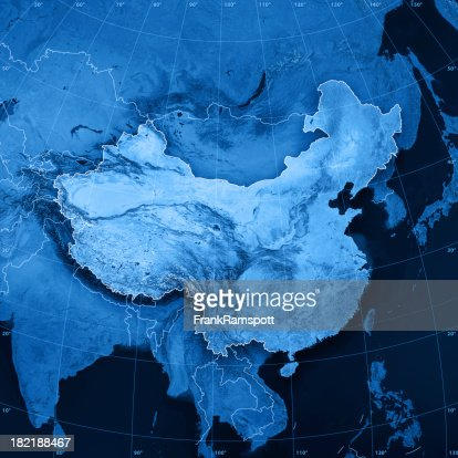 Mapa da China Topographic