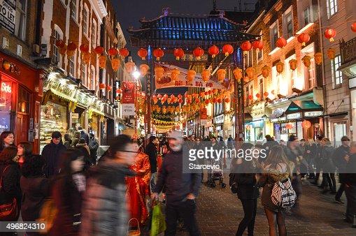 China Town in London, UK at night