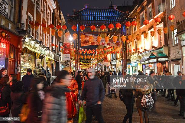 China Town à Londres, au Royaume-Uni, de nuit