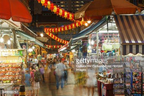 China town night market, Singapore