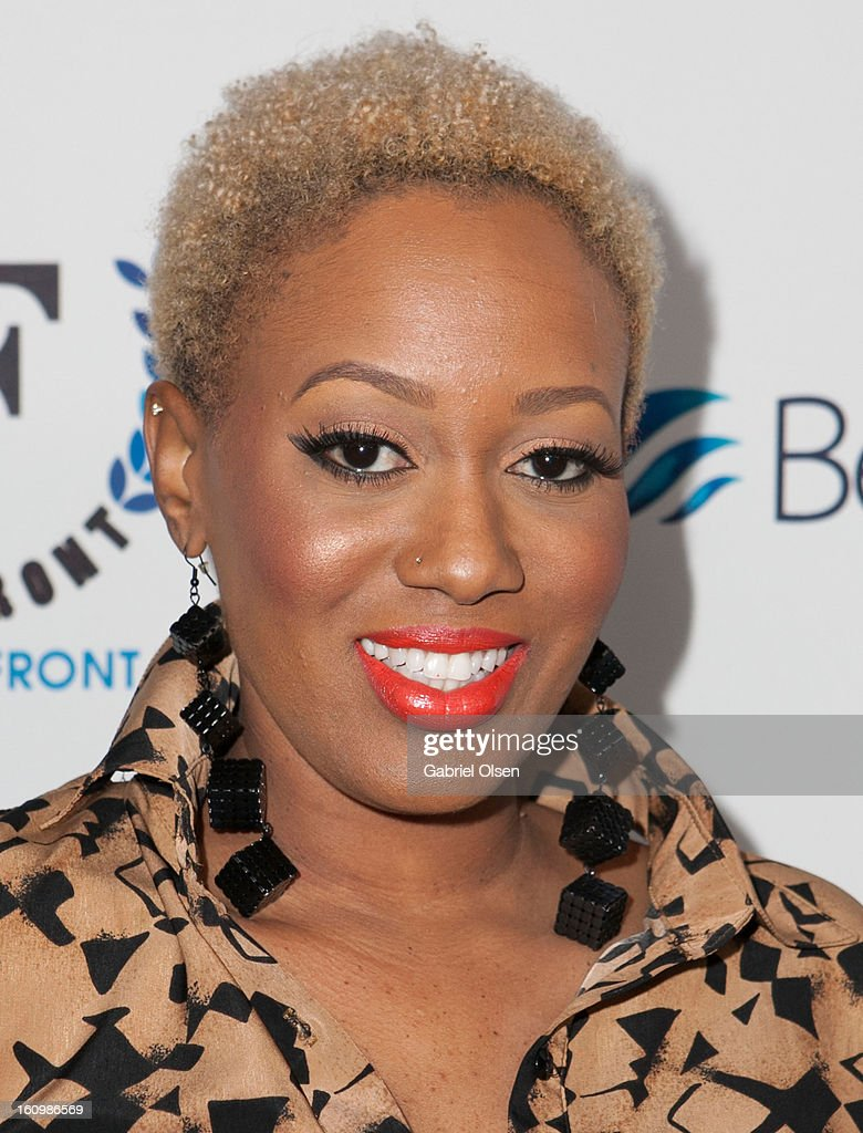 China Upshaw arrives at the Forefront TV Launch Partyon February 7, 2013 in Los Angeles, California.