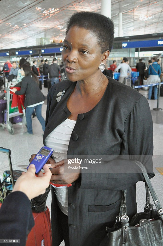 BEIJING China Valerie Amos UN undersecretary general for humanitarian affairs speaks at Beijing international airport in China on Oct 17 on the way...