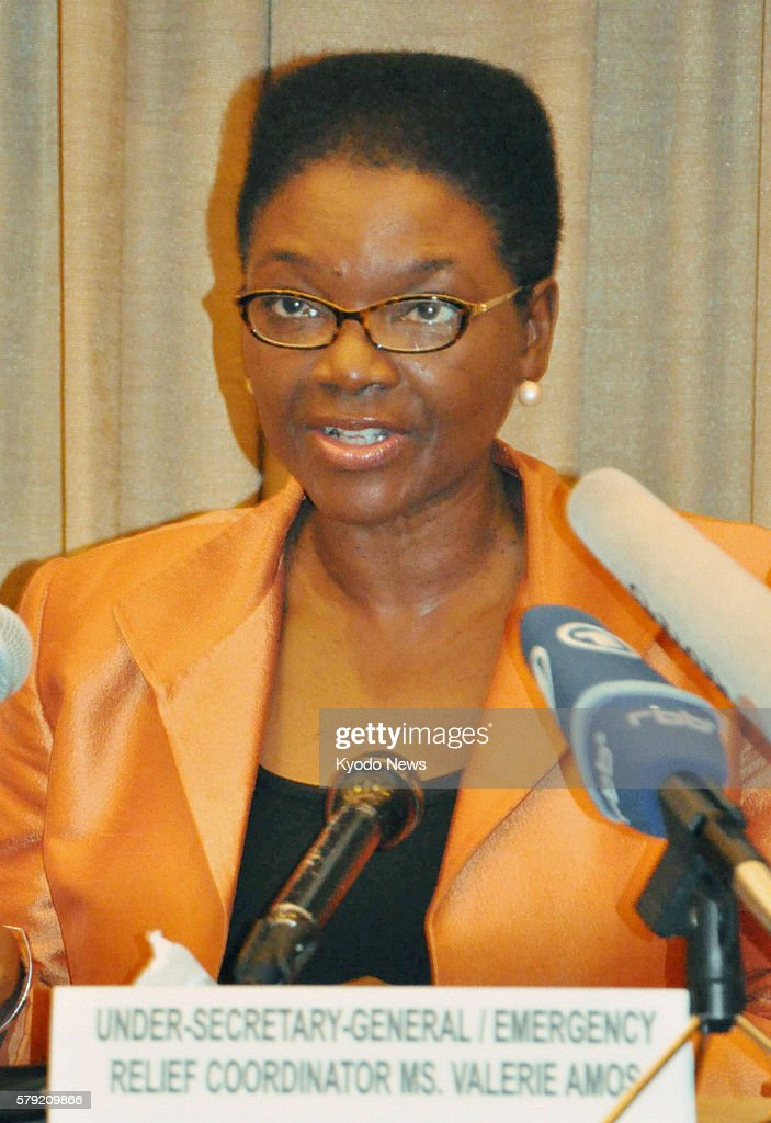 BEIJING China Valerie Amos UN undersecretary general for humanitarian affairs holds a press conference in a Beijing hotel on Oct 21 after returning...