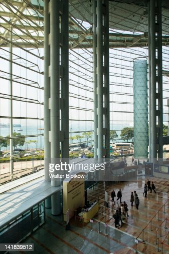 China, Wanchai, Hong Kong Convention and Exhibition Centre interior