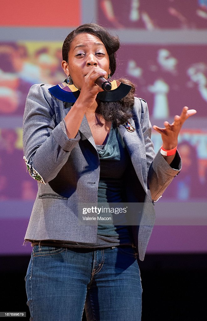 Chinaka Hodge attends Get Lit Presents The 2nd Annual Classic Slam at Orpheum Theatre on April 27, 2013 in Los Angeles, California.