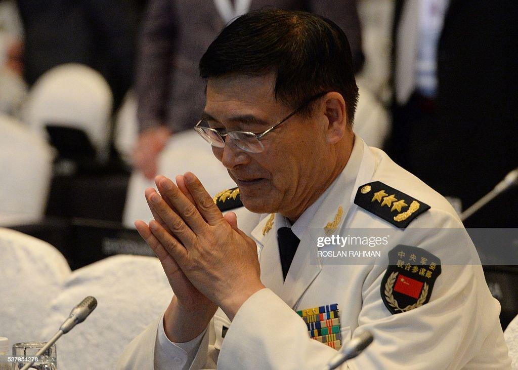 China's Admiral Sun Jianguo, deputy chief of general staff ...