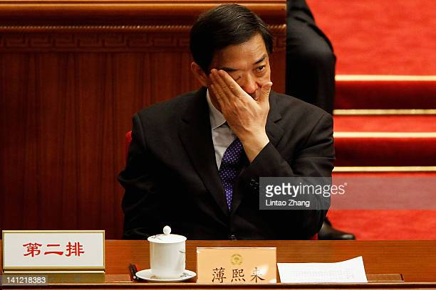 China's Chongqing Municipality Communist Party Secretary Bo Xilai attends closing session of the National Committee of the Chinese People's Political...