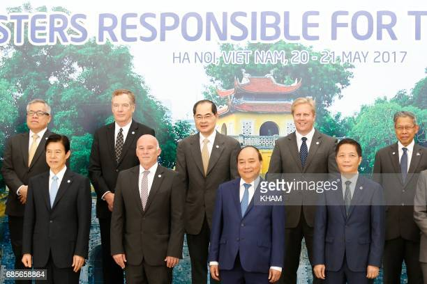 China's Commerce Minister Zhong Shan Peru's Foreign Trade and Tourism Minister Eduardo Ferreyros Vietnam's Prime Minister Nguyen Xuan Phuc and Trade...