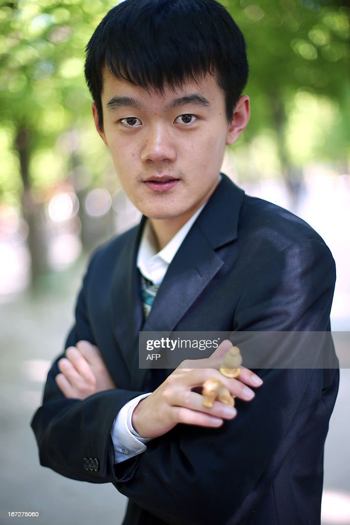 China's Ding Liren is pictured during the Alekhine Memorial chess tournament on April 23, 2013 in Paris. The tournament is a 10-player single round competition, with the first half held in Paris from April 20 to 25, and the second half in the Russian State Museum in St. Petersburg from April 26 to May 1st.