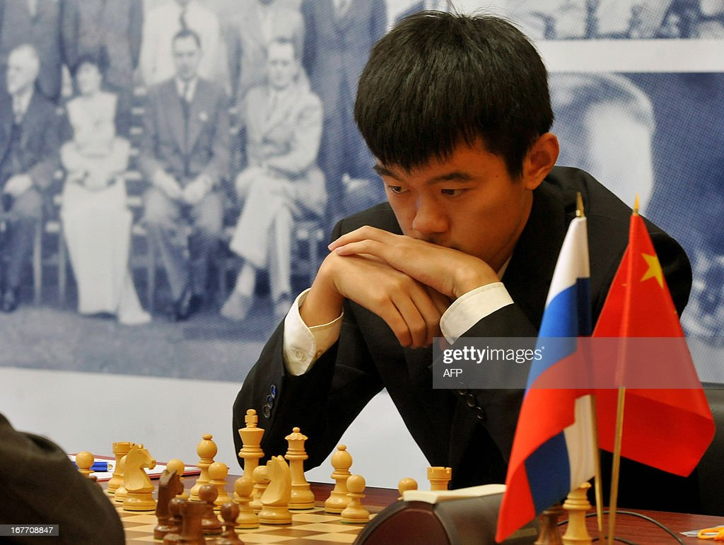 China's Ding Liren takes part in the Alekhine Memorial chess tournament in St.Petersburg, on April 28, 2013.