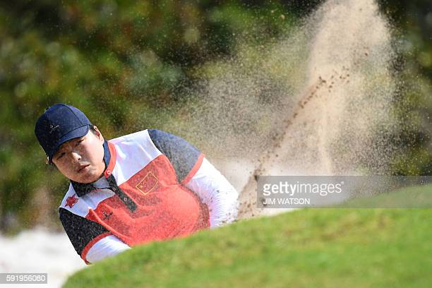 China's Feng Shanshan competes in the Women's individual stroke play at the Olympic Golf course during the Rio 2016 Olympic Games in Rio de Janeiro...