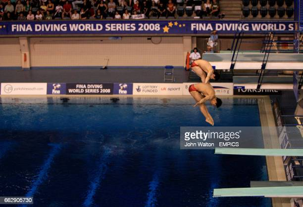 China's Feng Wang and Kai Qin during their men's 3m synchro