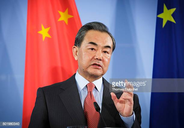 China's Foreign Minister Wang Yi on December 19 2015 in Berlin Germany