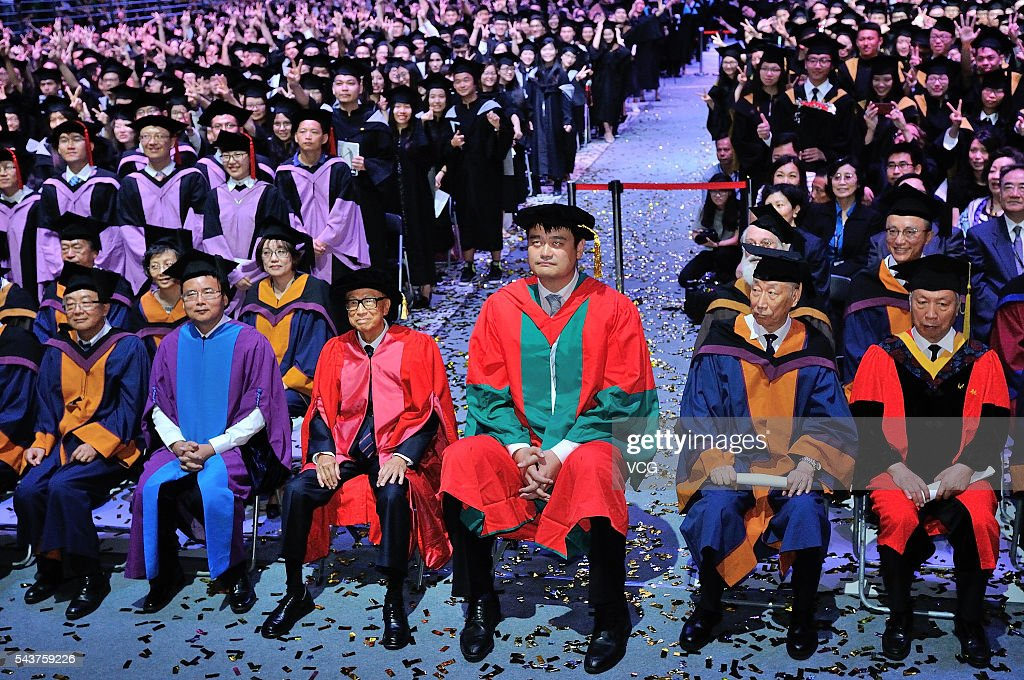 Li Ka-shing And Yao Ming Attend Graduation Ceremony In Shantou Universary