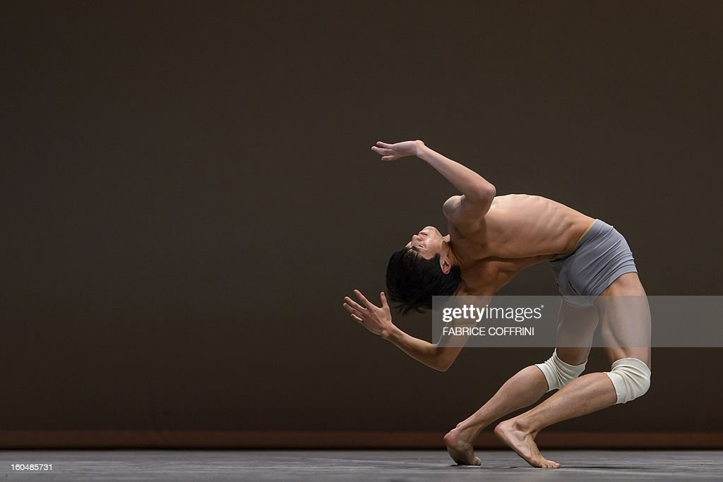 China's Gong Zunyuan, 17, performs during the contemporary selections of the 41st International Ballet Competition 'Prix de Lausanne' on February 1, 2013 in Lausanne