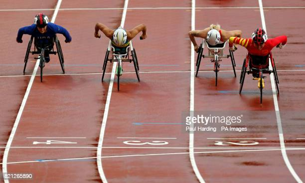 China's Hongzhuan Zhou wins the Women's 800m T53 Final during day ten of the 2017 World Para Athletics Championships at London Stadium