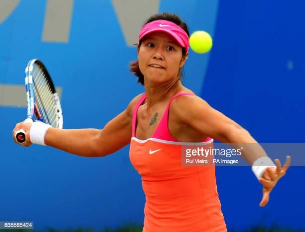 China's Li Na in action against Slovakia's Magdalena Rybarikova during the Finals of the AEGON Classic at Edgbaston Priory Birmingham