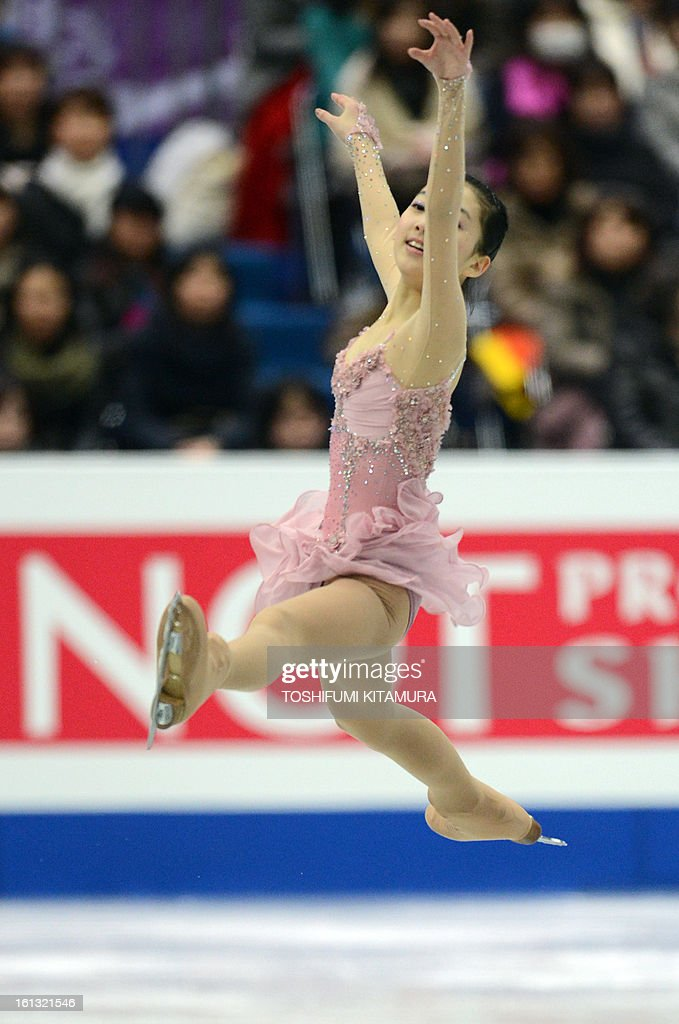 China's Li Zijun performs in the ladies free skating event at the Four Continents figure skating championships in Osaka on February 10, 2013.