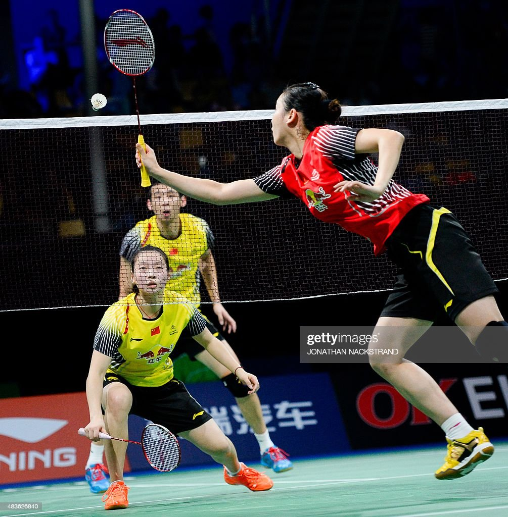 China s Liu Cheng unseen and Bao Yixin R pete against