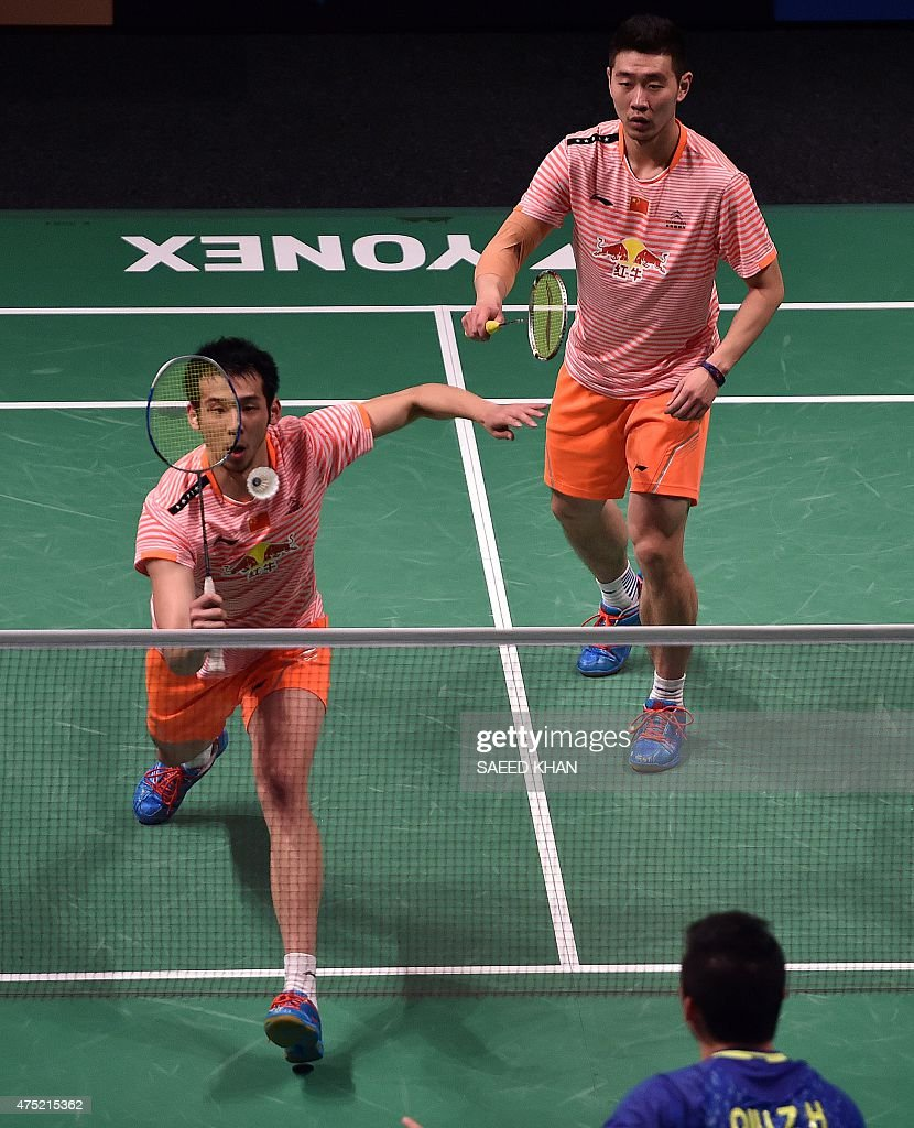 China s Lu Kai L and Liu Cheng pete against countrymen Liu