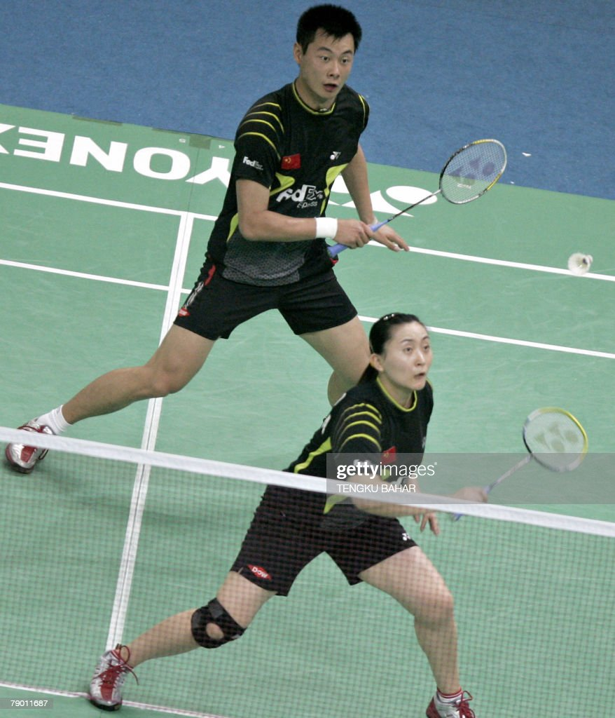 China s mixed doubles pair Zhao Tingting
