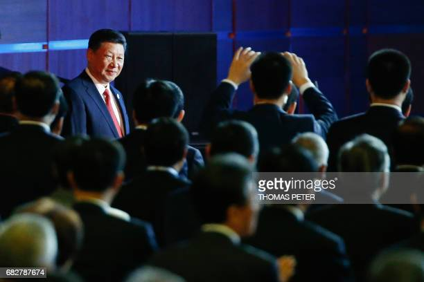 China's President Xi Jinping arrives at the opening ceremony of the Belt and Road Forum in Beijing on May 14 2017 China opened on May 14 a summit to...