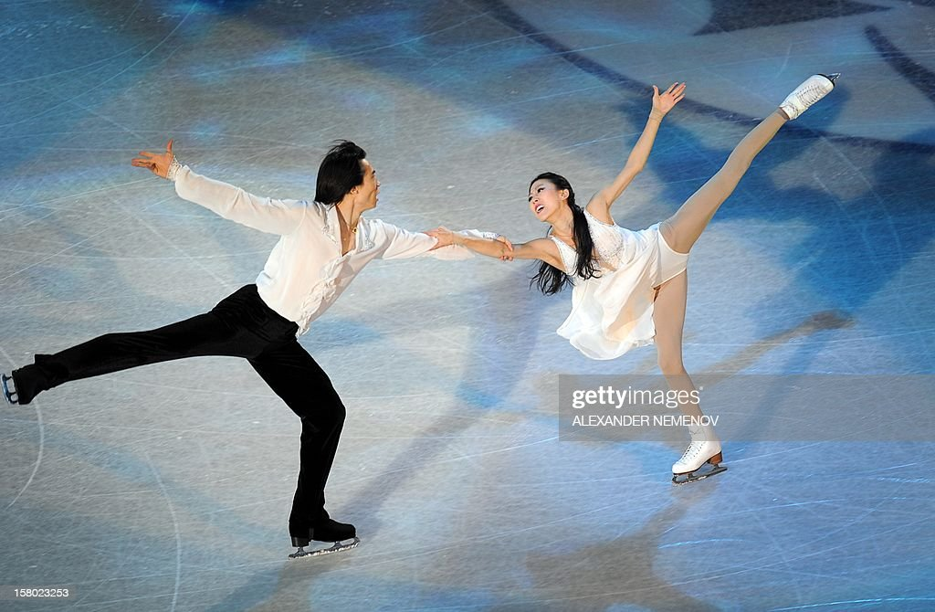 China's Qing Pang and Jian Tong perform during gala exhibition at the ISU Grand Prix of Figure Skating Final in Sochi on December 9, 2012.