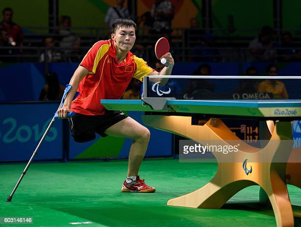China's Shuo Yan wins 31 against Spain's Jordi Morales Garcia in the Men's Singles Class 7 Bronze Medal tennis table match at the Riocentro Pavilion...