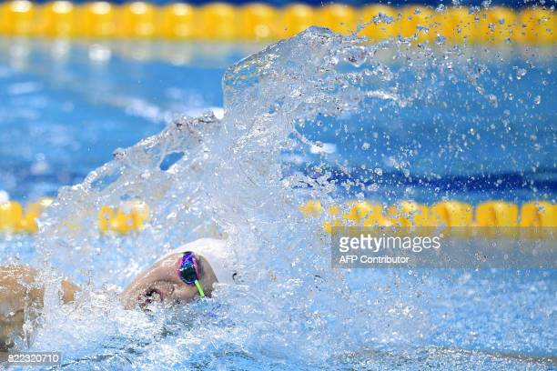 TOPSHOT China's Sun Yang competes in the men's 200m freestyle final during the swimming competition at the 2017 FINA World Championships in Budapest...