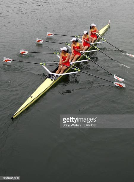 China's Women's Quadruple Sculls Yangyang Zhang Aihua Xi Ziwei Jin and Bin Tang