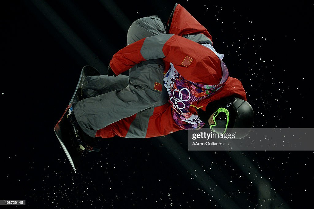 China's <a gi-track='captionPersonalityLinkClicked' href=/galleries/search?phrase=Yiwei+Zhang&family=editorial&specificpeople=8090733 ng-click='$event.stopPropagation()'>Yiwei Zhang</a> rides during the men's snowboard halfpipe final. Sochi 2014 Winter Olympics on Tuesday, February 11, 2014.