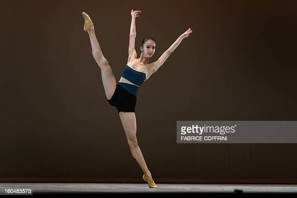 China's Yunting Qiu performs during the contemporary selections of the 41st International Ballet Competition 'Prix de Lausanne' on February 1 2013 in...