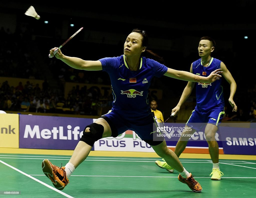 China s Zhang Nan R and Zhao Yunlei L pete against