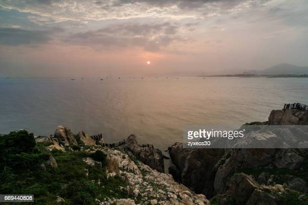 China's zhejiang province, the sea of sunrise.
