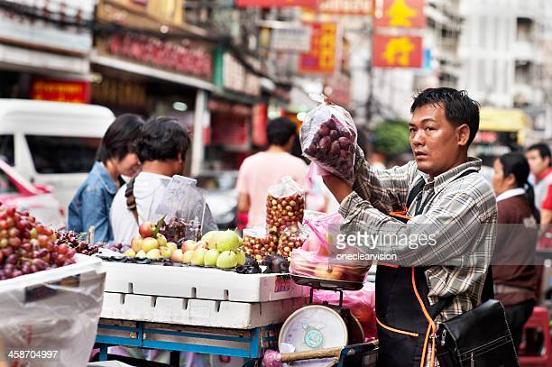 Chinatown Bangkok Street Fruit Vendors