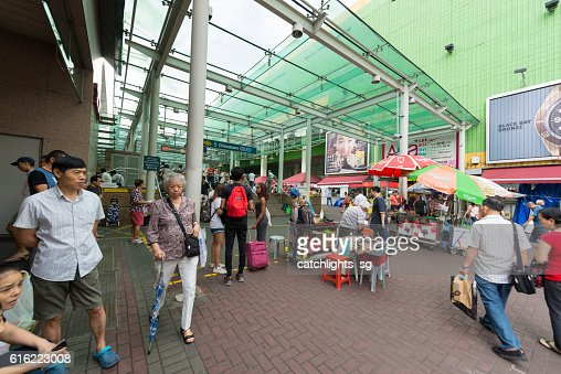 Chinatown MRT Train Station, Singapore : Stock Photo
