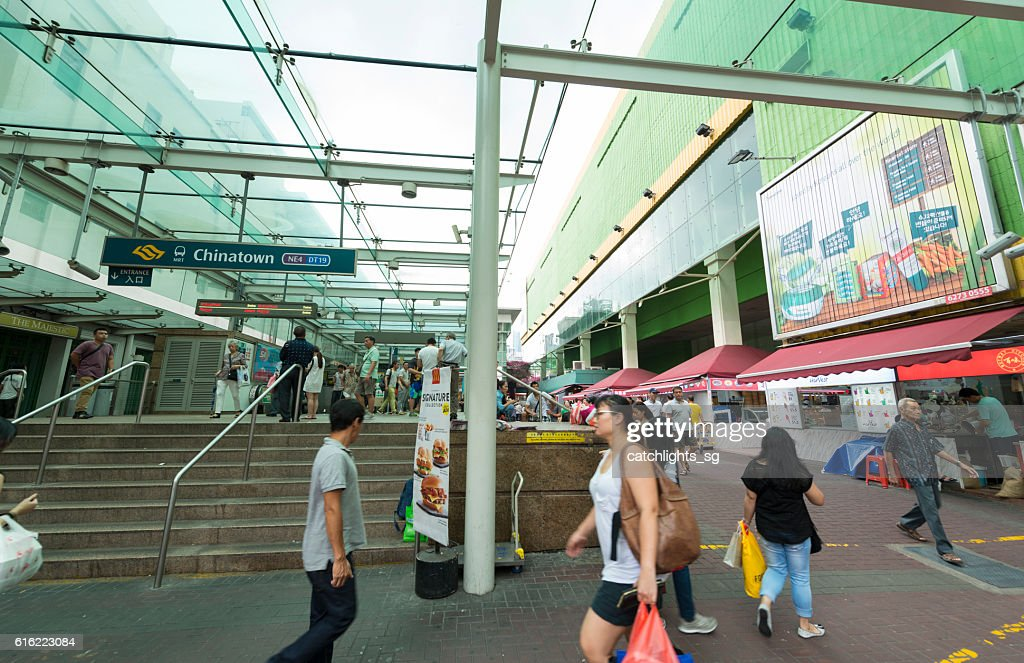 Chinatown MRT Train Station, Singapore : Foto stock