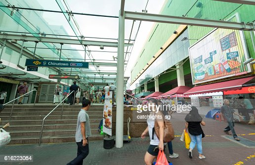 Chinatown MRT Train Station, Singapore : Stock-Foto