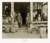 Antique American Photograph: Chinatown, San Francisco, California, United States, 1893: Original edition from my own archives. Copyright has expired on this artwork. Digitally restored.