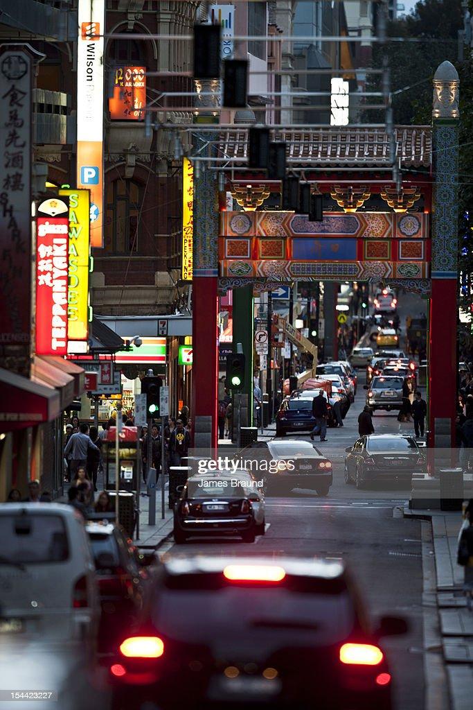 Chinatown streetscene : Stock Photo