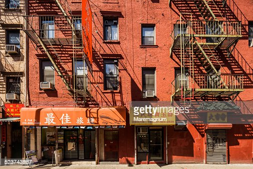 Chinatown, typical buildings in Pell street