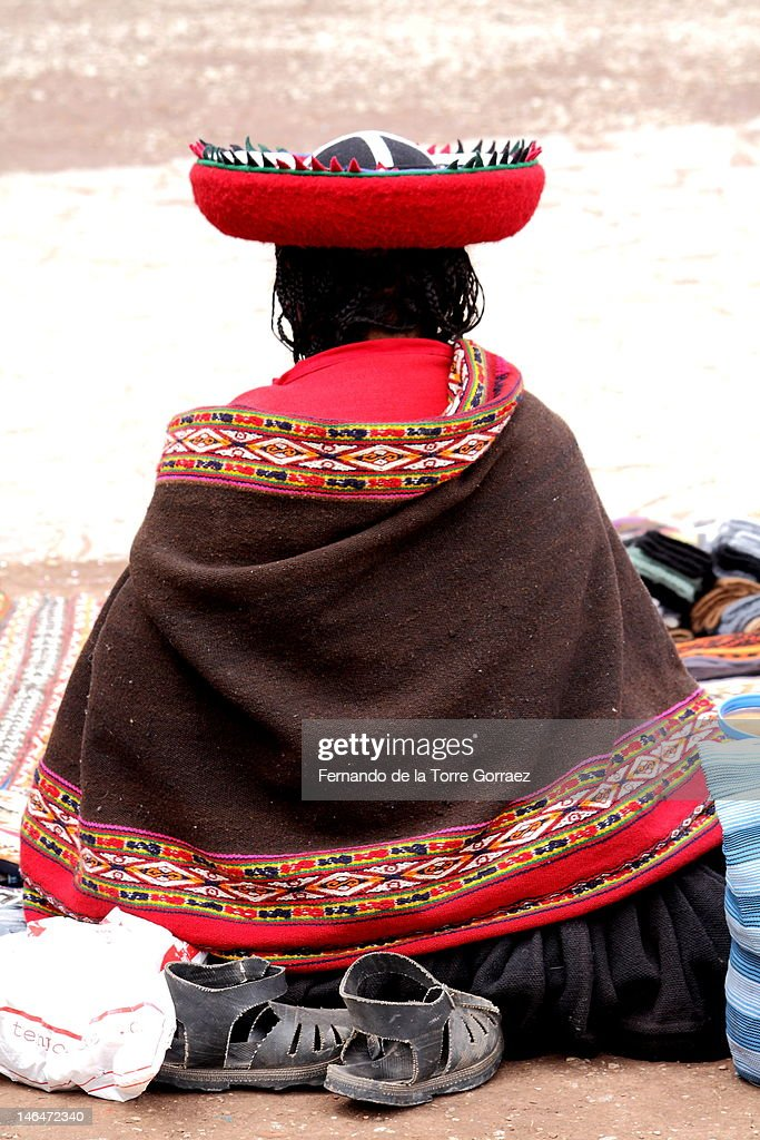 Chinchero woman : Stock Photo
