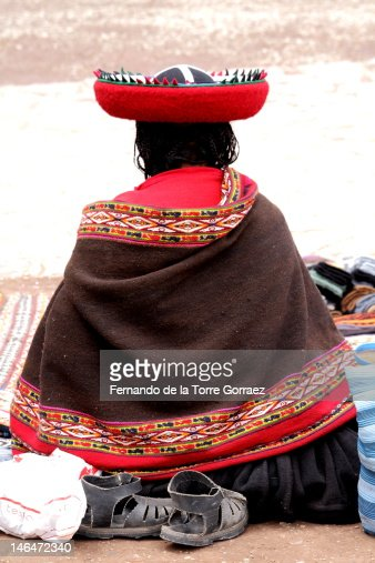 Chinchero woman : Stock Photo