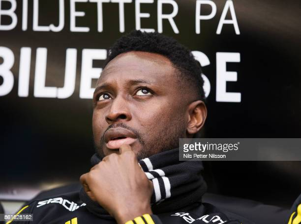 Chinedu Obasi of AIK during the Allsvenskan match between AIK and Jonkopings Sodra IF at Friends Arena on October 15 2017 in Solna Sweden