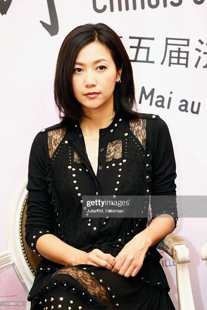 Chineese actress Xu Jinglei attends the 5th Chinese Film Festival press conference on May 11 2015 in Paris France