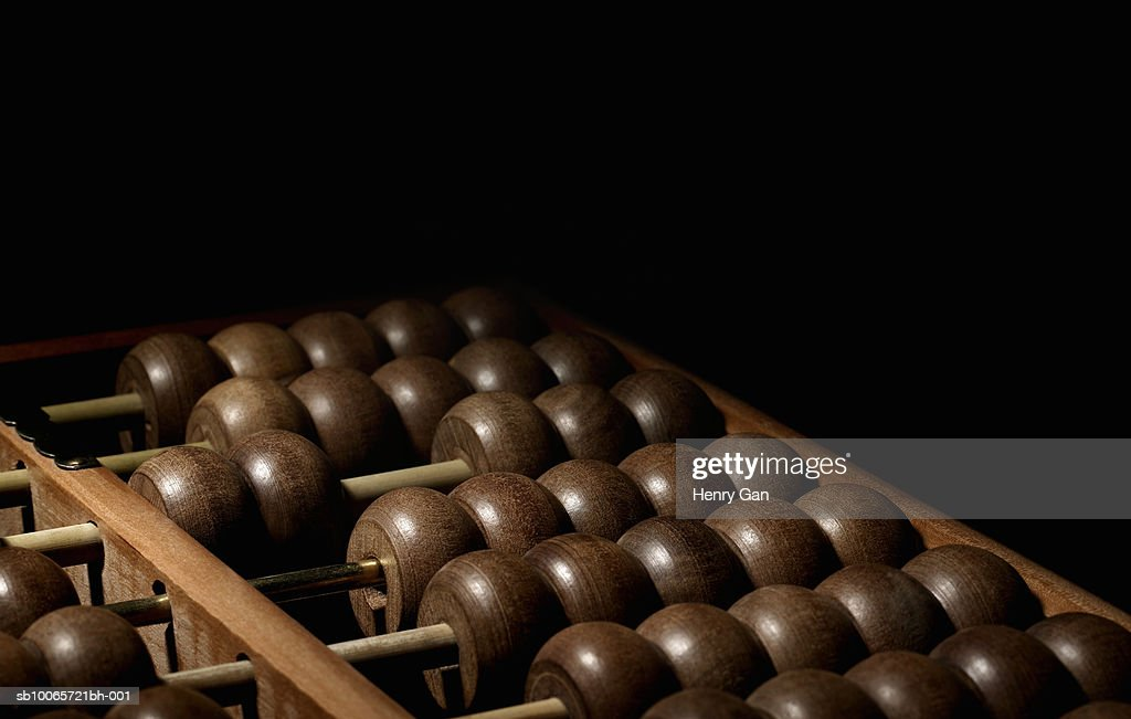 Chinese abacus, close-up