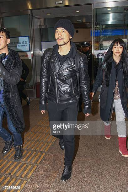 Chinese actor Liao Fan arrives at Beijing Capital International Airport on February 20 in Beijing China The Golden Bear prize for best picture at the...