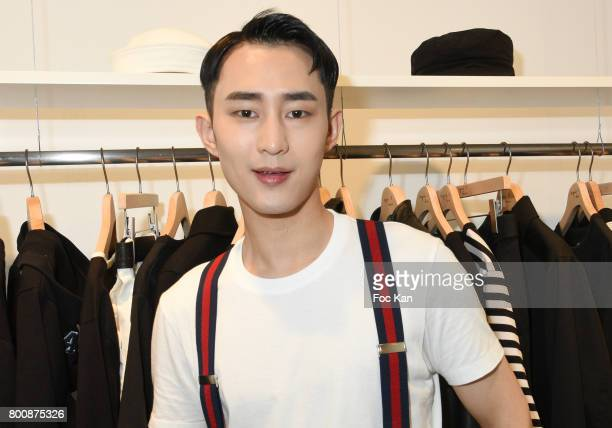 Chinese actor Wenzuo Song attends the Agnes B Menswear Spring/Summer 2018 show as part of Paris Fashion Week ton June 25 2017 in Paris France