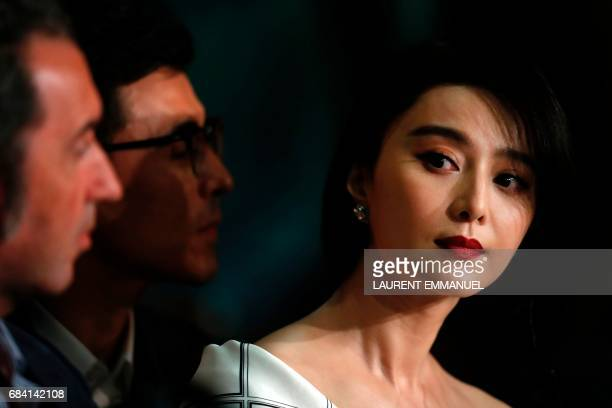 Chinese actress and member of the Feature Film jury Fan Bingbing attends on May 17 2017 a press conference ahead of the opening ceremony of the 70th...